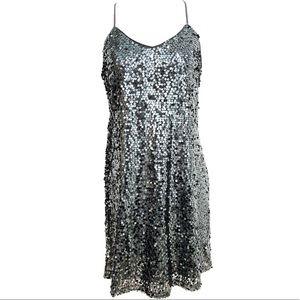 Express Dresses - Express Sleeveless Metallic Sequin Cami Dress